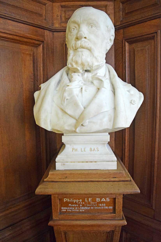 Statue de Philippe Le Bas Bu La Sorbonne