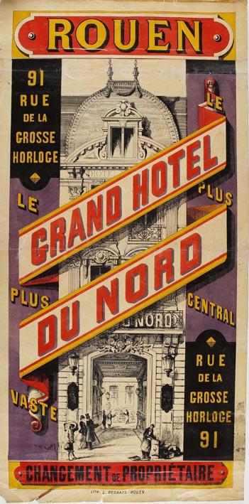 Hôtel du Nord à Rouen vers 1865, auteur Adeline