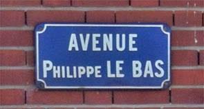 Plaque de l'avenue Philippe Le Bas