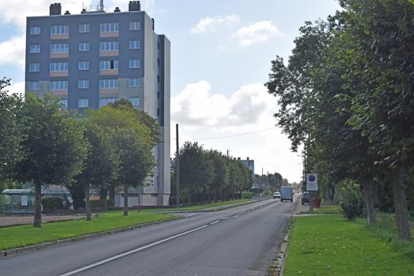 Avenue Philippe Lebas à Frévent