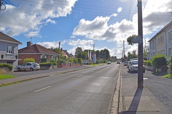 Avenue Philippe Le Bas à Frévent
