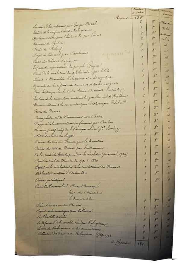Philippe Le Bas liste des 240 volumes(2)